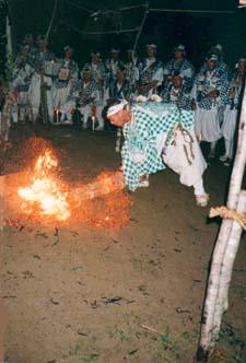 Outside Fire ritual by the yamabushi of Mt.Haguro
