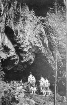 Yamabushi in front of Sho's cave in Omine mountains