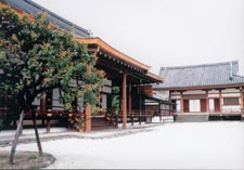 Shogoin temple : Building for fire ritual(back-side) : Goma-dô