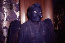 Statue of the Omine Tengu,the only one of Omine mounts, in Kizoin temple of Yosino village.