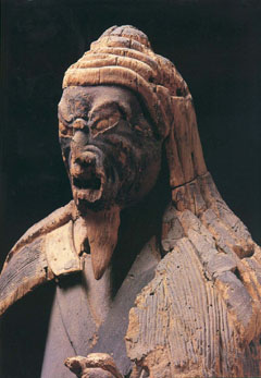 Wooden statue of En-no-Gyoja