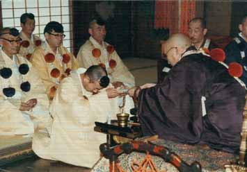 Ordination in Shogoin Temple